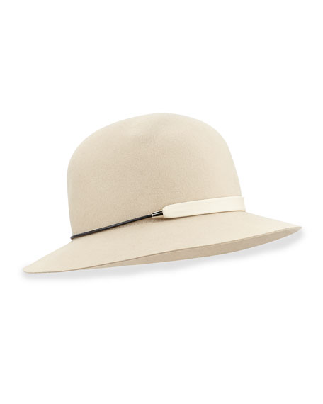 Faye Banded Cloche, Tan
