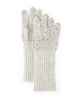 Catherine Speckle Knit Cashmere Gloves
