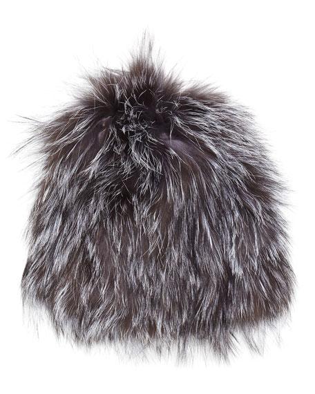 8bf3376891e Adrienne Landau Knit Fox Fur Beanie Hat