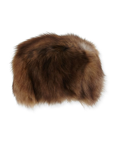 Fox Fur Hat, Brown
