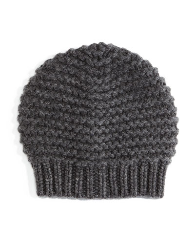 Knit Paillettes Beanie Hat