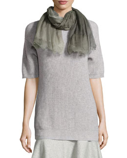 Cashmere Degrade Scarf, Purple/gray
