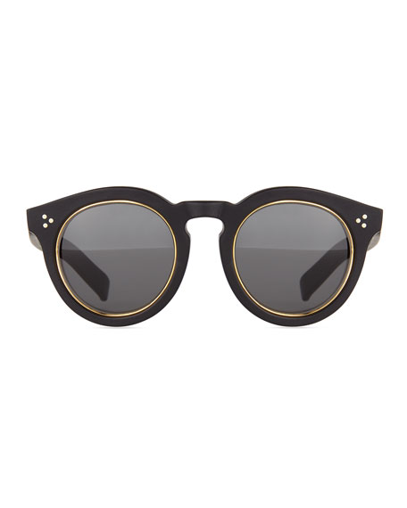 Leonard II Sunglasses, Black/Gold