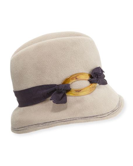 Winter Barrette Felt Hat