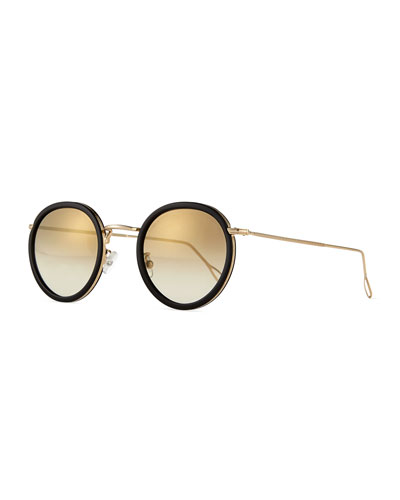 Matti Round Mirror Sunglasses