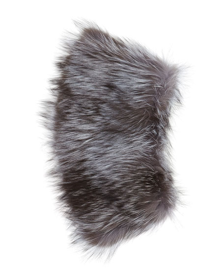 Two-Tier Stretch Knit Fur Cowl