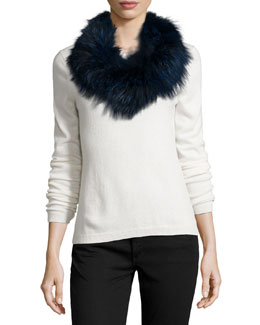 Fox Fur Cowl Collar/Infinity Scarf