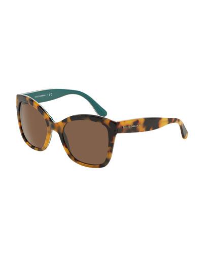 Square Plastic Tortoise Sunglasses