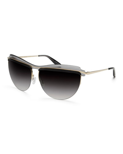 Christian Roth The Affair Sunglasses, Black/Gray