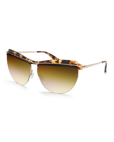 Christian Roth The Affair Sunglasses, Tortoise
