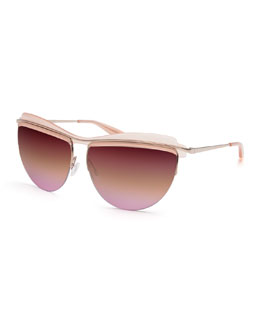 Christian Roth The Affair Sunglasses, Rose