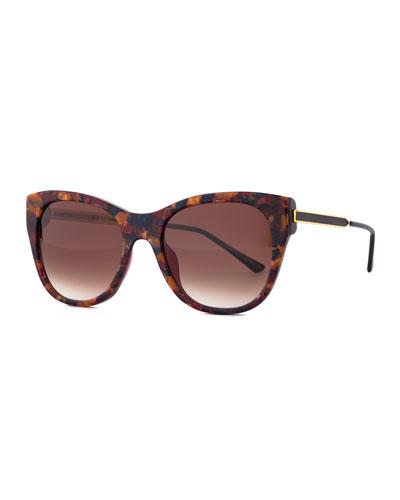 Strippy Modified Cat-Eye Sunglasses