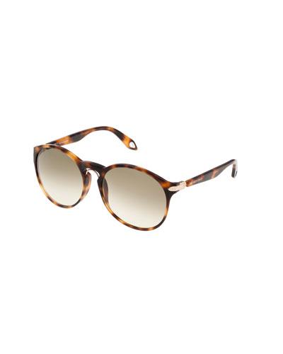 Round Keyhole Sunglasses, Havana