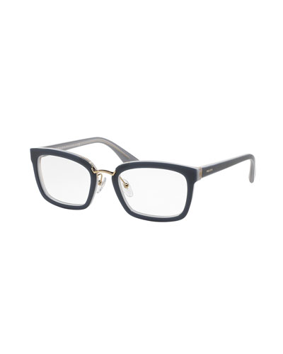 Square Fashion Glasses, Blue