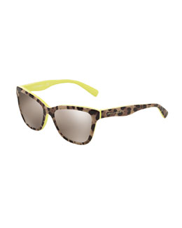 Kids' Leopard-Print Flash-Lens Sunglasses