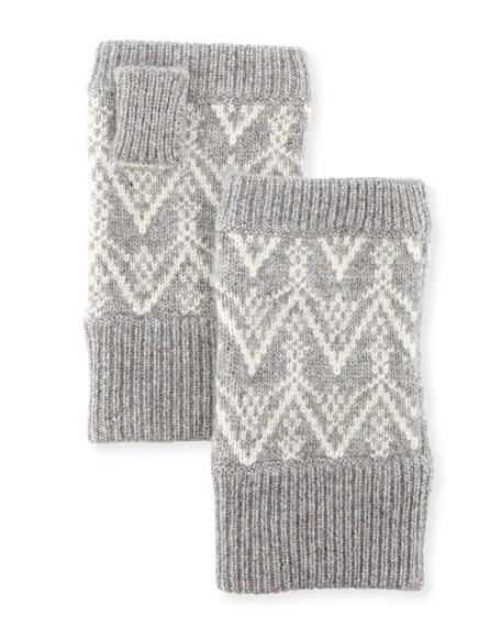 Sofia Cashmere Fair Isle Cashmere Fingerless Gloves