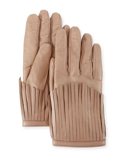 Sheepskin Fringe Gloves, Alpaca