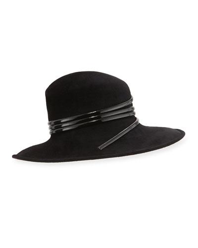 Wool Felt Hat w/Spiral Detail