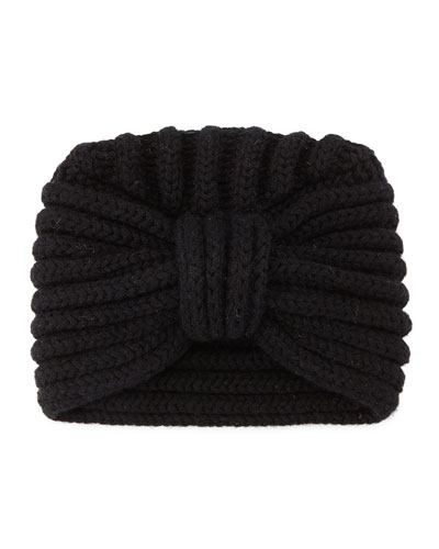 Knit Cashmere Turban Hat