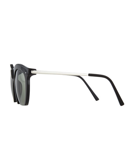 The Foundry Cutoff Sunglasses, Black