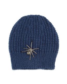 Crystal Spider Knit Beanie Hat
