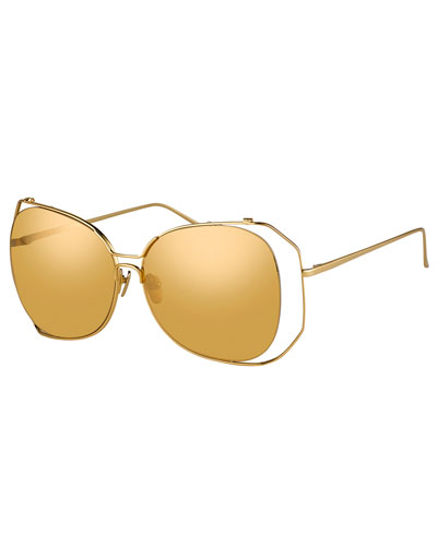 Angled-Rim Butterfly Sunglasses