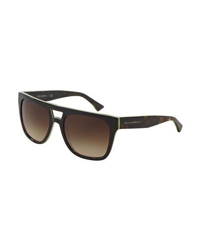 Flat-Top Square Sunglasses