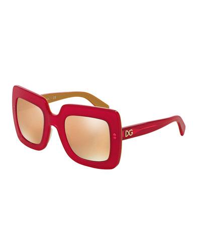 Chunky Square Plastic Sunglasses