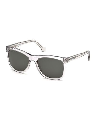 Rectangular Plastic Sunglasses