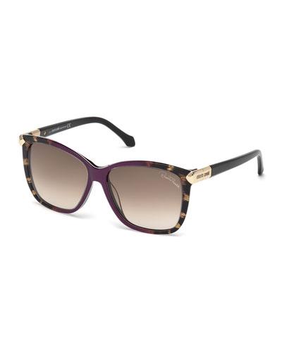 Menkent Square Sunglasses, Violet