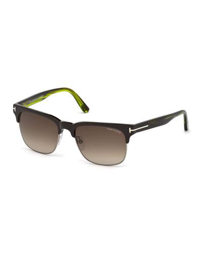 Louis Dual-Rimmed Square Sunglasses
