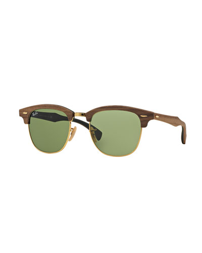 Classic Clubmaster Wood Sunglasses