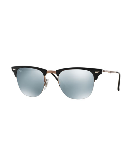 Clubmaster Sunglasses with Mirror Lens