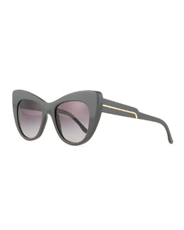 Exaggerated Cat-Eye Sunglasses
