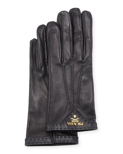 Napa Leather Gloves, Black