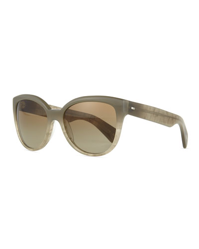 Abrie Plastic Cat-Eye Sunglasses