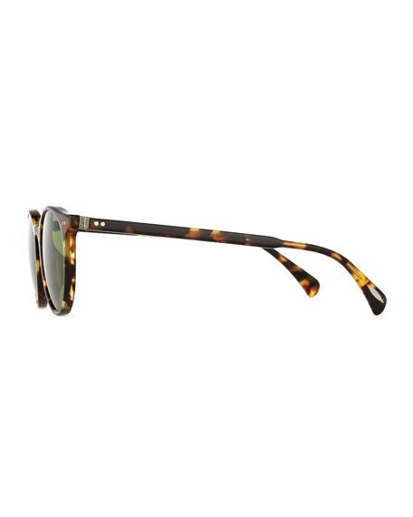 Delray Sun 48 Round Sunglasses, Tortoise