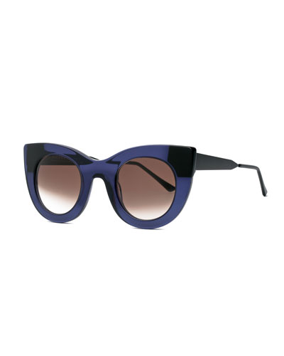 Cheeky Cat-Eye Sunglasses, Purple