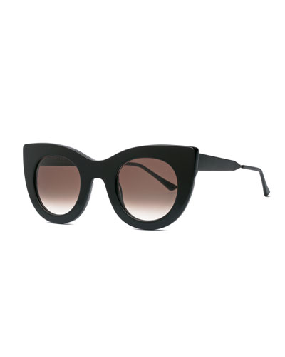 Cheeky Cat-Eye Sunglasses, Black