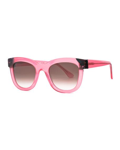 Chromaty Square Sunglasses, Pink