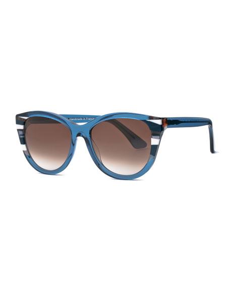 Chromaty Cat-Eye Sunglasses, Blue