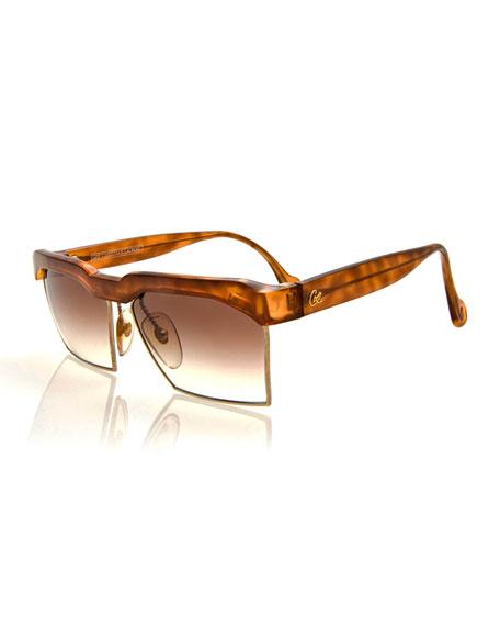 Vintage Oversized Square Sunglasses, Light Brown