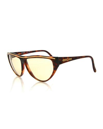 Vintage Flat-Top Sunglasses, Tortoise