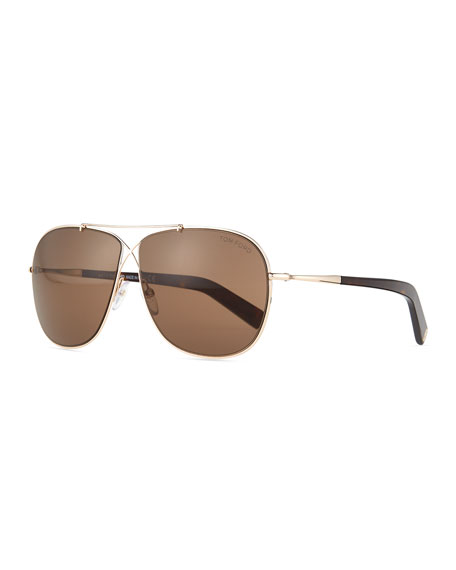April Cross-Front Aviator Sunglasses