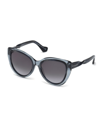 Twist-Temple Cat-Eye Sunglasses