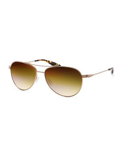 Lovitt Aviator Sunglasses, Gold