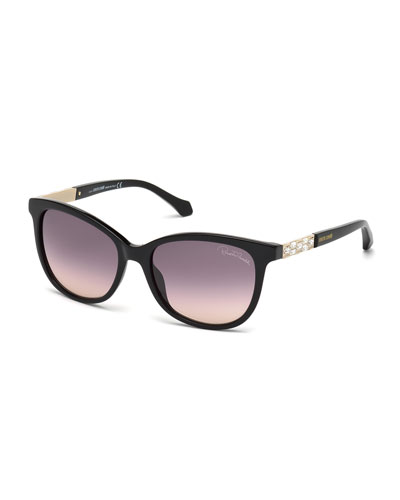 Merak Crystal-Temple Sunglasses