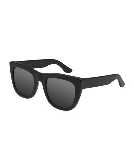 Gals Mirrored Sunglasses, Black