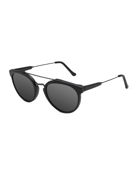Super by Retrosuperfuture Giaguaro Mirrored Sunglasses, Black