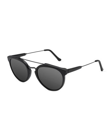 Super by Retrosuperfuture Giaguaro Mirrored Sunglasses, Black